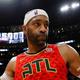 米プロバスケットボール(NBA)、アトランタ・ホークスのビンス・カーター(2018年11月21日撮影)。(c)Kevin C. Cox/Getty Images/AFP