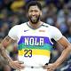 米プロバスケットボール(NBA)、ニューオーリンズ・ペリカンズからロサンゼルス・レイカーズへのトレード移籍が報じられたアンソニー・デイビス(2019年2月22日撮影)。(c)ANDY LYONS / GETTY IMAGES NORTH AMERICA / AFP