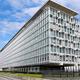 世界保健機関(WHO)本部=2020年7月3日、スイス・ジュネーブ、吉武祐撮影