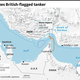 イランによる英船籍タンカーの拿捕について解説した図。(c)AFP=時事/AFPBB News