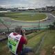 18F1第20戦ブラジルGP決勝を控えたインテルラゴス・サーキット(2018年11月9日撮影、資料写真)。(c)Mauro Pimentel/AFP