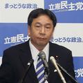 定例会見に臨む立憲民主党の枝野幸男代表