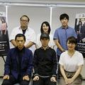 (前列左より)谷昌樹、杉田智和、小林沙苗、(後列左より)原田