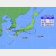 17日午前11時の台風14号の位置と進路予想。