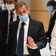 フランス・パリの裁判所に出廷したニコラ・サルコジ元大統領(2021年3月1日撮影)。(c)Anne-Christine POUJOULAT / AFP