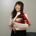 この日誕生日だったらめ記者から花が贈られた