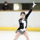 <西日本フィギュアスケート選手権第2日>女子フリー、演技をする横井ゆは菜(撮影・小海途 良幹)