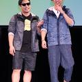 お笑いコンビ・8.6秒バズーカー (左から)はまやねん、田中シ
