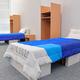 公開された選手村の部屋の家具=2020年1月9日午前11時40分、東京都中央区、諫山卓弥撮影