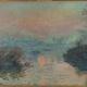 『Soleil couchant sur la Seine à Lavacourt, effet d'hiver』Monet, Claude/Paris Musées