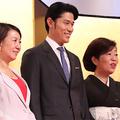 (左から)中園ミホ氏、鈴木亮平、林真理子氏