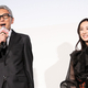 映画『ヒキタさん!ご懐妊ですよ』完成披露上映会にて。(左から)松重豊、北川景子。