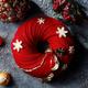 シャングリ・ラ ホテル 東京のクリスマスケーキ、野いちご×ホワイトチョコムースのリース型ケーキなど