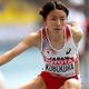 女子400mハードル・予選にて。  写真は、シーズンベストとなる56秒33を記録したものの、予選で敗退した久保。  (撮影:フォート・キシモト)  [2013年8月12日、ルジニキ・スタジアム/モスクワ/ロシア]