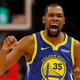 米プロバスケットボール(NBA)、ブルックリン・ネッツへの移籍を発表したケビン・デュラント(2018年12月3日撮影)。(c)Kevin C. Cox/Getty Images/AFP