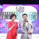 タイムショックの司会としてもはやおなじみとなった中山秀征と大下容子アナウンサー/(C)テレビ朝日