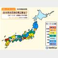 「前シーズン比 花粉の飛ぶ数」1月14日発表(tenki.jp)