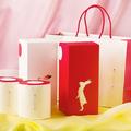 ウサギの立ち姿がデザインされた箱入りセット(4個2500円)