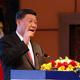 ネパールの首都カトマンズで開かれた歓迎夕食会で演説する中国の習近平国家主席。現地紙ライジング・ネパール提供(2019年10月12日撮影、提供)。(c)AFP=時事/AFPBB News