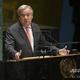 米ニューヨークの国連本部で開かれた国連総会で演説するアントニオ・グテレス事務総長(2019年9月24日撮影、資料写真)。(c)Don Emmert / AFP