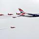 英国航空「レトロジェット」とイギリス空軍「レッドアローズ」が夢の共演