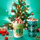 スタバからクリスマスツリーをイメージした「ピスタチオ クリスマス ツリー フラペチーノ」登場