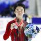 メダルを手にする2位の友野一希(代表撮影)