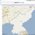 真っ白な状態の北朝鮮地図