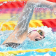 準決勝で力泳する池江璃花子