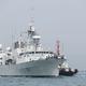 2018年5月3日、香港のビクトリア・ハーバーに停泊するマジェステス・カナディアン・シップ(HMCS)・バンクーバー号。(ANTHONY WALLACE/AFP via Getty Images)