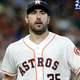 HOUSTON, TX - JULY 24: Justin Verlander #35 of the Houston Astros walks off the mound after the sixth inning against the Oakland Athletics at Minute Maid Park on July 24, 2019 in Houston, Texas. (Photo by Tim Warner/Getty Images)