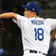 LOS ANGELES, CA - SEPTEMBER 17: Kenta Maeda #18 of the Los Angeles Dodgers pitches in relief in the sixth inning against the Tampa Bay Rays at Dodger Stadium on September 17, 2019 in Los Angeles, California. (Photo by Jayne Kamin-Oncea/Getty Images)