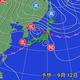 12日午後9時の予想天気図。