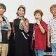左から大塚隆史監督、三石琴乃、田中真弓、千葉繁