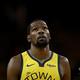 米プロバスケットボール協会(NBA)、ゴールデンステイト・ウォリアーズのケビン・デュラント(2019年4月14日撮影)。(c)Ezra Shaw / GETTY IMAGES NORTH AMERICA / AFP