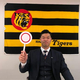 リモートで「熱血! タイガース党」に出演した佐藤輝。質問コーナーで四苦八苦!?(球団提供)