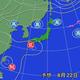 22日午前9時の予想天気図。