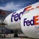 米運輸大手フェデックスの貨物機(2018年8月6日撮影、資料写真)。(c)JOEL SAGET / AFP