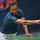 男子テニス、上海マスターズ、シングルス準々決勝。リターンを打つダニール・メドベージェフ(2019年10月11日撮影)。(c)AFP=時事/AFPBB News