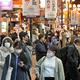 にぎわう大阪・ミナミ=2020年11月23日夜、大阪市中央区、井手さゆり撮影