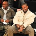 LOS ANGELES, CA - NOVEMBER 05:  Rapper Kanye West (R) attend