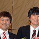 博多華丸(左)と博多大吉(2016年10月31日撮影)