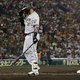 6回、2死満塁の好機で遊ゴロに倒れた阪神・マルテ=甲子園(C)Kyodo News