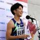 男子100メートルで優勝した多田修平=ヤンマースタジアム長居