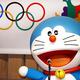 東京都庁で行われた「2020年東京オリンピック・パラリンピック招致出陣式」より。  写真は、招致スペシャルアンバサダーのドラえもん。  (撮影:フォート・キシモト)  [2013年8月23日、国立競技場/東京]