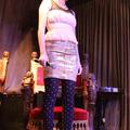 トークショーにゲスト出演したのは、モデルの土岐田麗子