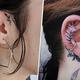 インパクト大!耳の軟骨タトゥーデザイン7