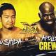 KUSHIDAとアポロ・クルーズ(右)の対戦が発表された(C)2019 WWE, Inc. All Rights Reserved.