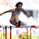 女子100mハードル・予選にて。  紫村は、予選1組で13秒72の7着に終わった。  (撮影:フォート・キシモト)  [2013年8月16日、ルジニキ・スタジアム/モスクワ/ロシア]