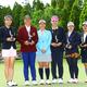 安田祐香(左端)ら5人のアマが決勝進出 宮里藍(左から3番目)と記念撮影(撮影:村上航)